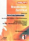 Zertifikat Hilti-Brandschutz